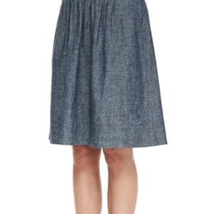 ✨Eileen Fisher✨ Denim Blue Chambray Skirt (L)